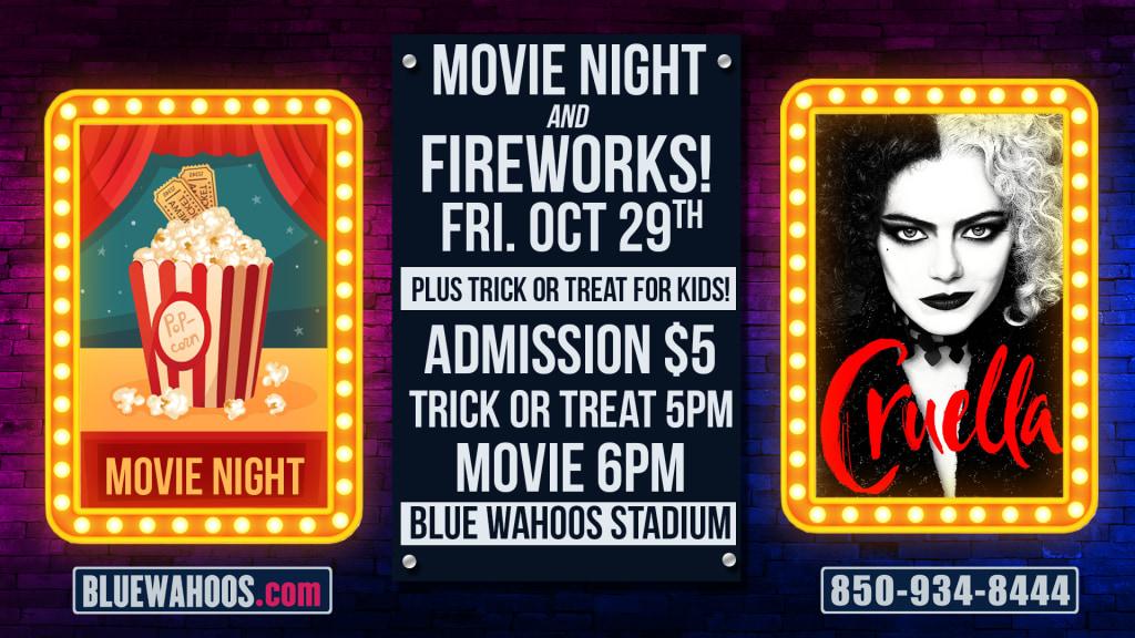 Movie Night & Fireworks